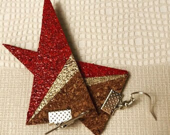 Triangle Cork earrings