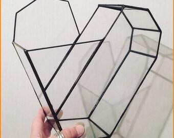 Heart stained glass Terrarium
