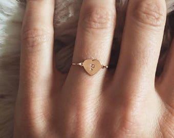 Customizable Mini Heart Ring