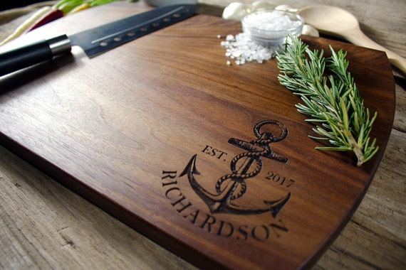 Personalized Nautical Cutting Board,