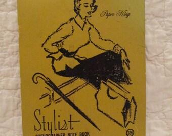 Vintage Notebook Stenographer Stylist Paper King SALE