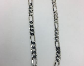 Like New Sterling Silver Figaro Chain