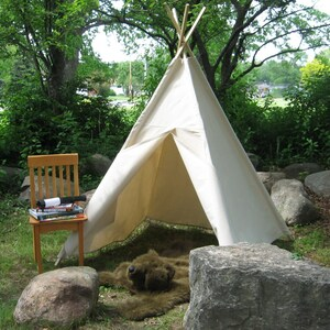 Ordinaire Kids Canvas Teepee Tent, Two Sizes Available, Many Color Choices, Can  Include A