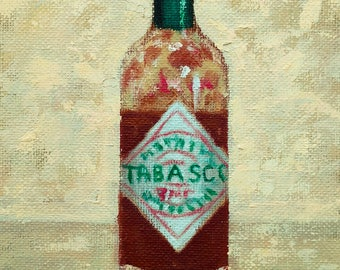 Tabasco Original still life oil painting by Max Oliver