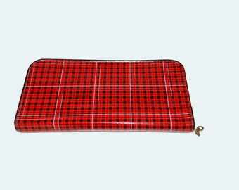 60's plaid pencil case