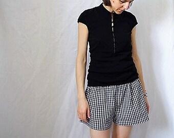 Vichy Cotton Shorts