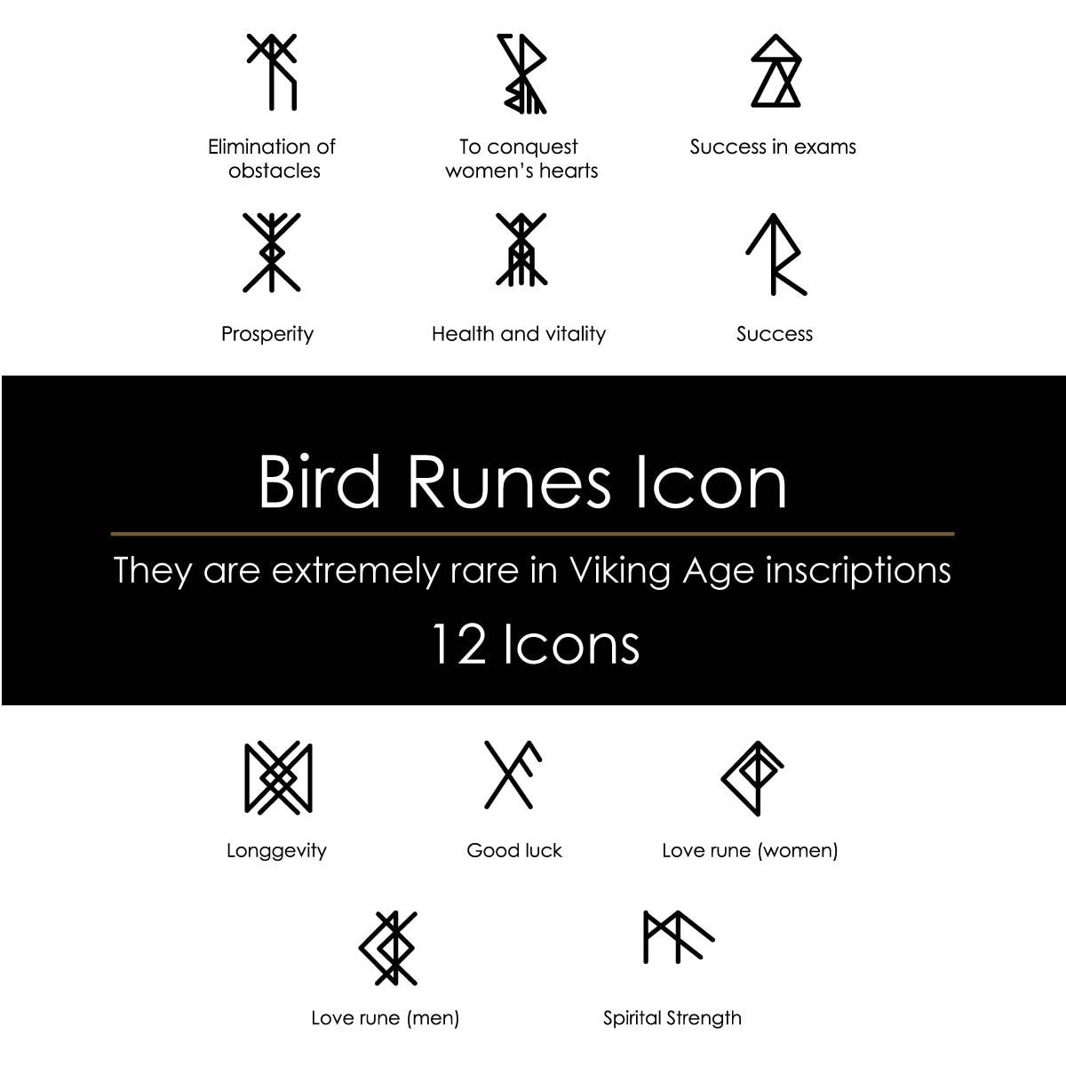 Bird runes digital pack viking age inscriptions clip art pdf files this is a digital file buycottarizona Choice Image