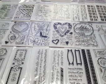 Over 20 Packages New Clear Acrylic Stamps