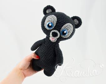 Crochet PATTERN No 1729 Three brave bears by Krawka,