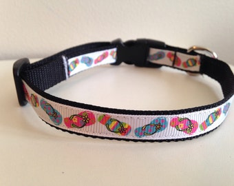 Summer Flip Flop 1/2 inch Small Dog Collar