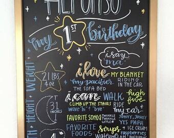 First Birthday Birthday Board 17 x 23