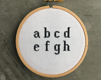 Modern Style Cross Stitch Alphabet Pattern