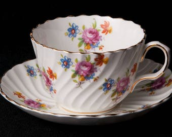 CLEARANCE Aynsley Bone China Teacup and Saucer