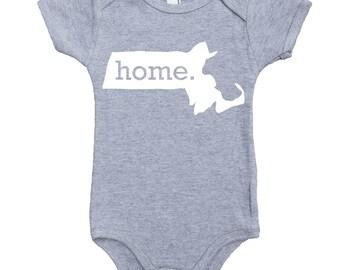 Homeland Tees Massachusetts Home Unisex Baby Bodysuit