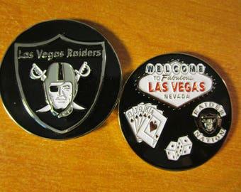 Las Vegas Raiders Welcome to Fabulous Las Vegas Raider Nation 3D Football Challenge Coin
