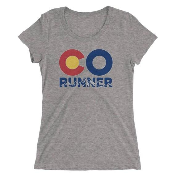 Women's Colorado Run TriBlend T-Shirt - Run Colorado - Women's Short Sleeve Running Shirt