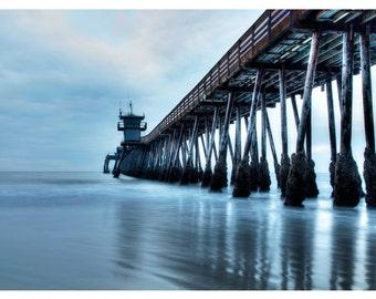 Imperial Beach -  HDR -  San Diego Beach -  Gloomy - Ghost -   Mysterious - Home Decor - Wall Art