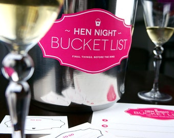 Hen Night Bucket List - Printable Game