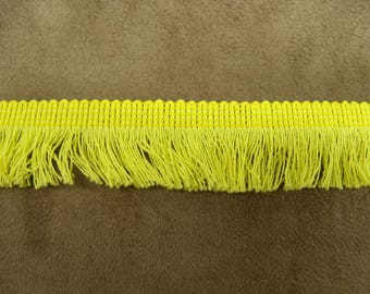 Small - 2 cm - yellow polyester fringe