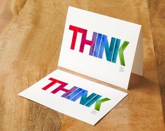 Watercolor printed card - inspire someone!