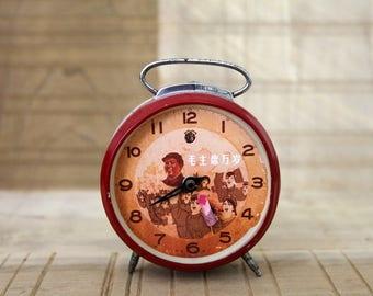 Original Mao Tse-Tung Chinese Revolution Alarm Clock - Missing 2nd hand