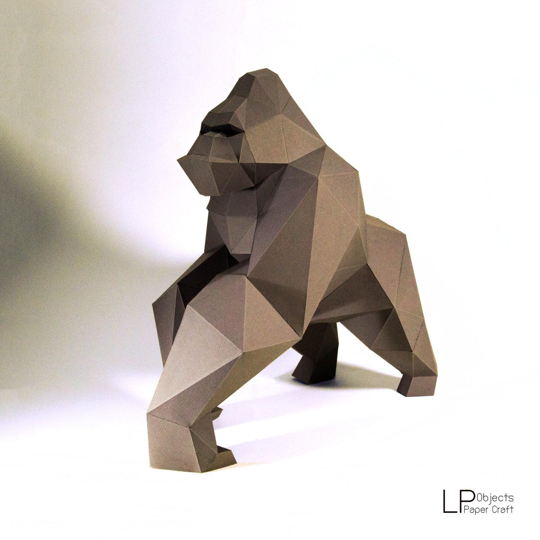 Gorilla model kingkong model kingkong paper gorilla zoom jeuxipadfo Choice Image