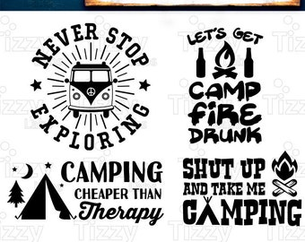 Camping Svg Bundle Set 3 SVG Files - Camping Svg Files for Cricut Camp Svg Files for Silhouette Campers SVG Bundle Commercial Use - 517