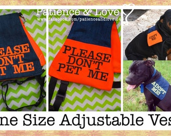 Vest (for 25 to 90lb dogs), Please DON'T Pet Me, Light weight service-dog style vest