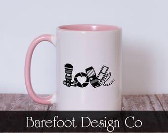 Camera Love Photographer Coffee Cup Mug  READY TO SHIP!