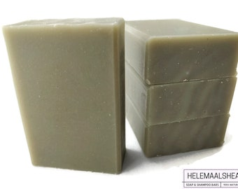 Solid Shampoo Bar, Aloë Vera - for sensitive scalp - unscented  / no perfume / Natural handmade cold process soap /French clay / Ilite/ oat