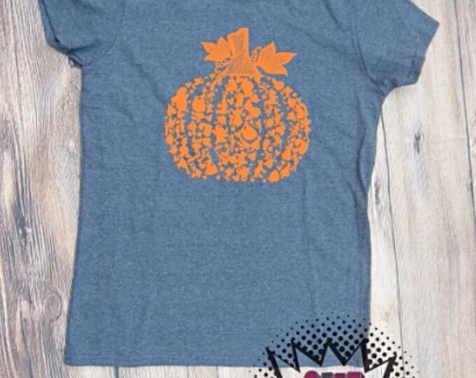 character  Pumpkin T-shirt fall pumpkin spice Adult Shirt season halloween Boo trick or treat