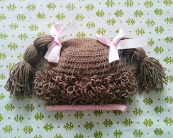 Handmade Crochet Baby Girl's Cabbage Patch Hat