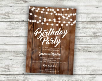 Party invitations Etsy