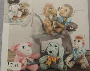 Simplicity 1603 Two Pattern Piece Animals  One size