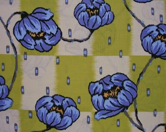 Amy Butler Lotus Collection Water Lily in Lime  1 Fat Quarter