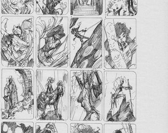 Red Sonja and Dejah Thoris cover sketches