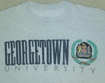 Vintage Georgetown University Crest Sweatshirt Med/Lg.