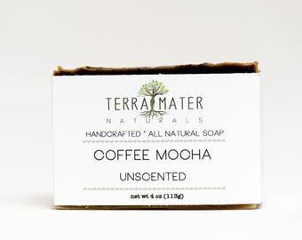 Coffee mocha latte handmade natural vegan palm-free Soap unscented