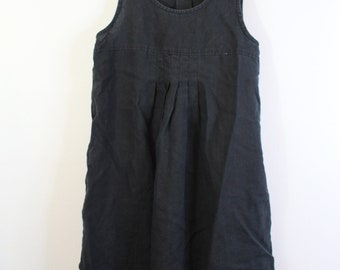 Retro Linen Jumper Dress