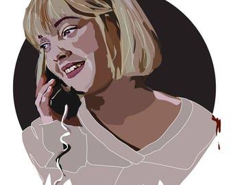 Casey Becker - Drew Barrymore - Scream - Art Print - Horror