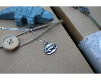 "Sterling Silver Alligator Charm Necklace- ""Petra"""