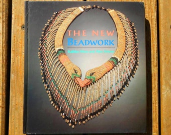 The New Beadwork by Kathlyn Moss and Alice Scherer Vintage Used Hardcover Book