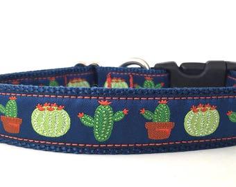 Cactus Ribbon Dog Collar