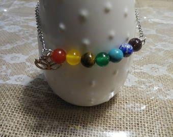 7 Chakra Lotus Meditation Bracelet