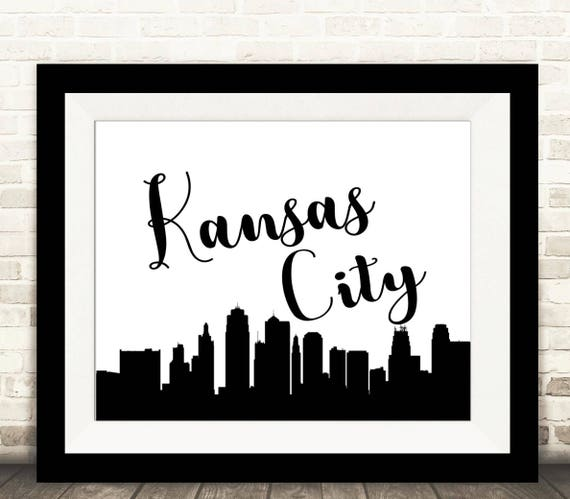 Kansas City Skyline Print - Kansas City Wall Art - DIGITAL Printable File - Instant Download  sc 1 st  Etsy & Kansas City Skyline Print Kansas City Wall Art DIGITAL