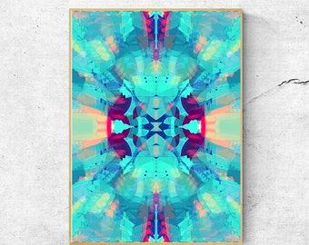 Bohemian Decor, Abstract Art Print, Abstract Wall Art Prints, Printable wall Art, Blue Wall Art, Blue Abstract Art, Bohemian Print, Blue Art