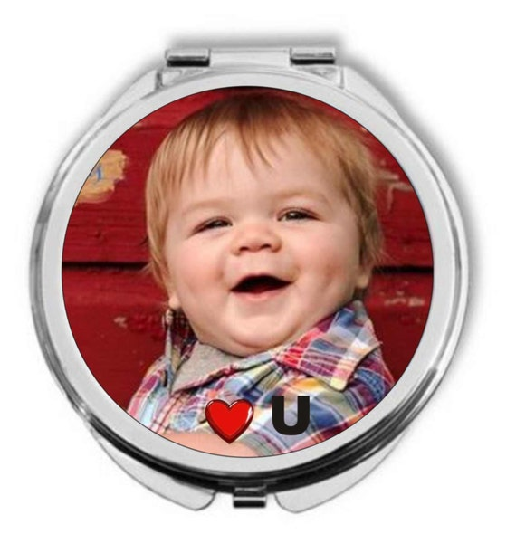 compact mirror,mothers day gift, customized compact mirror, photo compact mirror, photo purse mirror, photo pocket mirror, grandmother gift