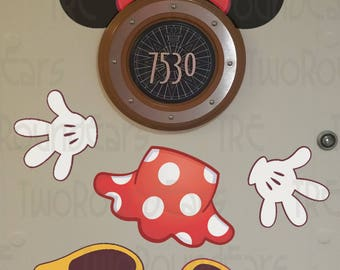 DCL Stateroom Door Porthole Ears - Minnie Mouse
