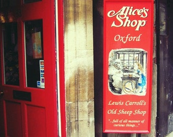 Alice in Wonderland Gift Shop - Oxford Travel Photography - British Home Decor - Lewis Carroll Old Sheep Shop - Fine Art Photograph