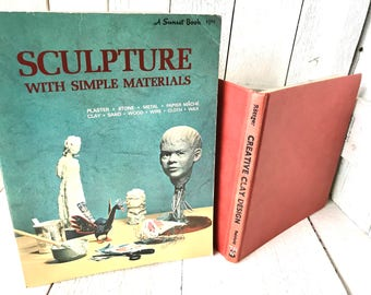 Vintage books sculpture clay mid century design art instruction/  free shipping US